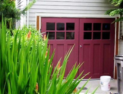 Seattle Craftsman Garage Door - warm, strong, quiet with craftsman style doors