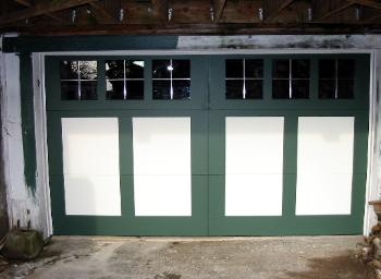 REAL Carriage Garage Doors for your Tudor house built and installed to roll-up in sections as traditional garage doors.  Other opening styles for these Carriage Doors include:  Swing-out, In Swing, Slide, or Fold.  The choice is yours for a carriage house garage door!