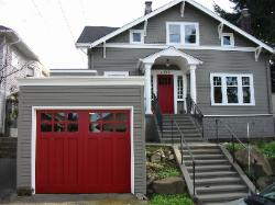 Swing carriage doors.  Choose the opening style for your swing carriage doors that meets your garage door requirements:  Roll-up in sections, Swing-out, Swing-in, Slide, or Fold for your swing carriage doors.