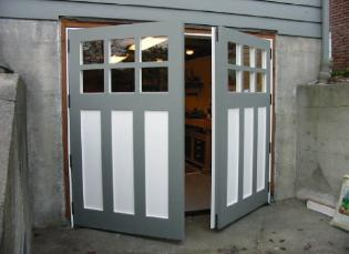 Hinged, Swinging, Swing-Out, Swing-In, and Swing REAL Carriage Doors by Vintage Garage Door LLC are hand-made of the highest quality materials and craftsmanship for the following opening styles:  Hinged, Swinging, Swing-Out, Swing-In, and Swing as well as slide and fold.